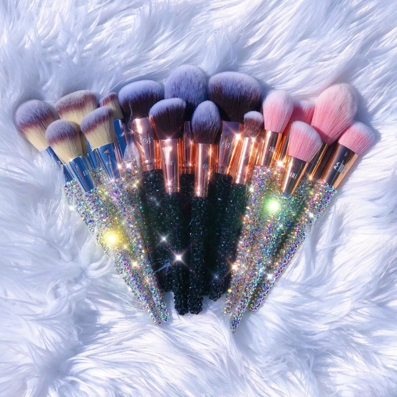 nice cute pretty bling makeup brushes