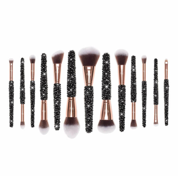 pro black makeup brushes