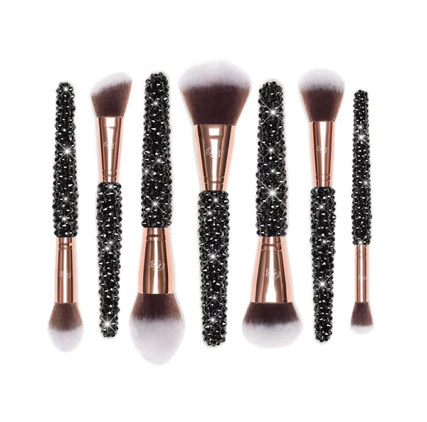 pretty sparkly face makeup brushes