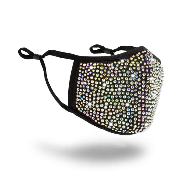 Blinged Face Mask (Black)