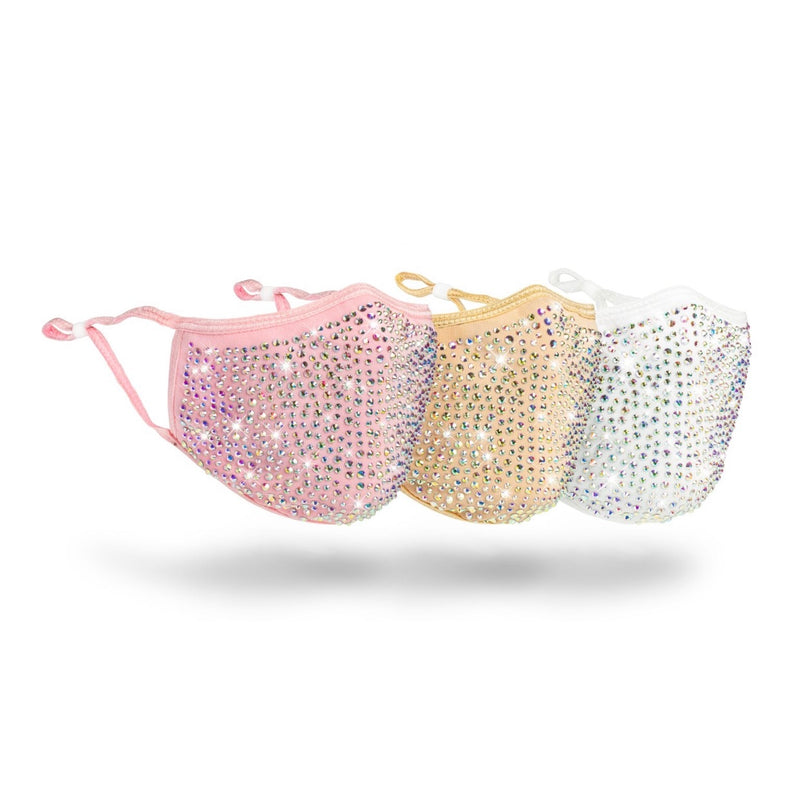 Blinged Face Mask Bundle (pink, champagne, white)