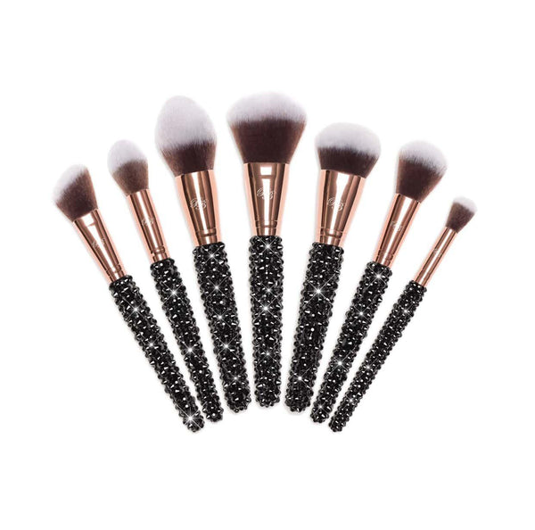 best black bling makeup brushes