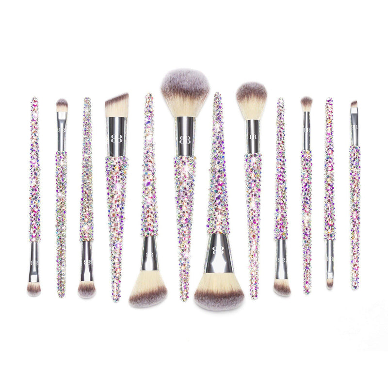 pretty glitter makeup brush kit