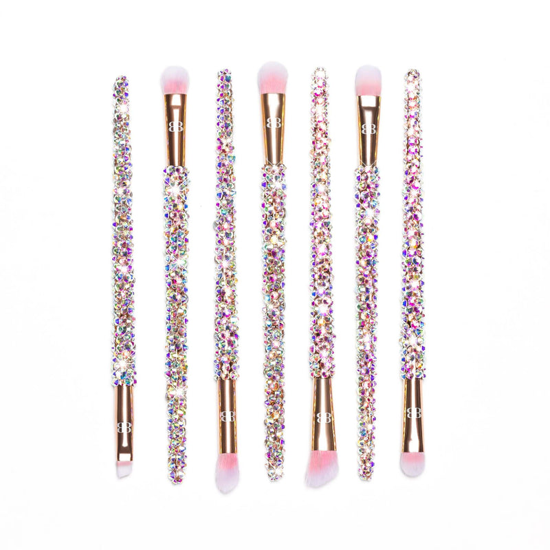 rose gold pink makeup brush set for eyes