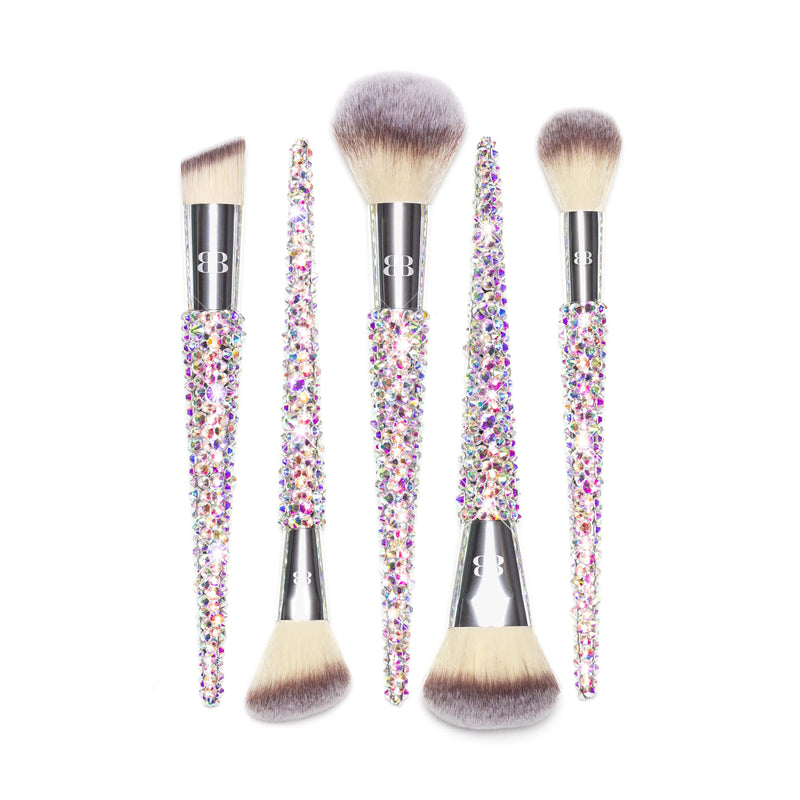 best silver bling face makeup brushes