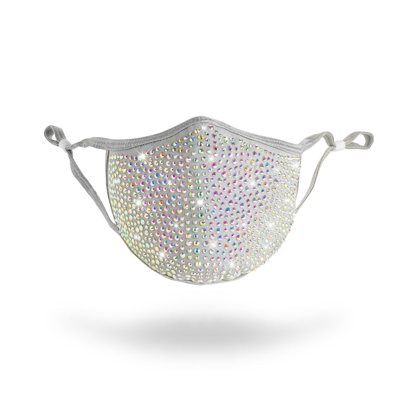 Blinged Face Mask (Gray)