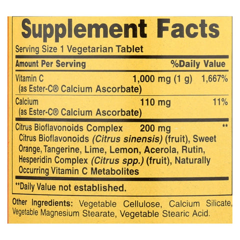 Image of American Health - Ester-c With Citrus Bioflavonoids - 1000 Mg - 120 Vegetarian Tablets