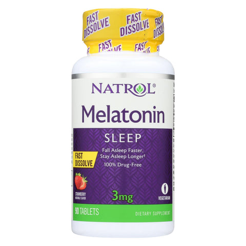 Natrol Melatonin Fast Dissolve Strawberry - 3 Mg - 90 Tablets