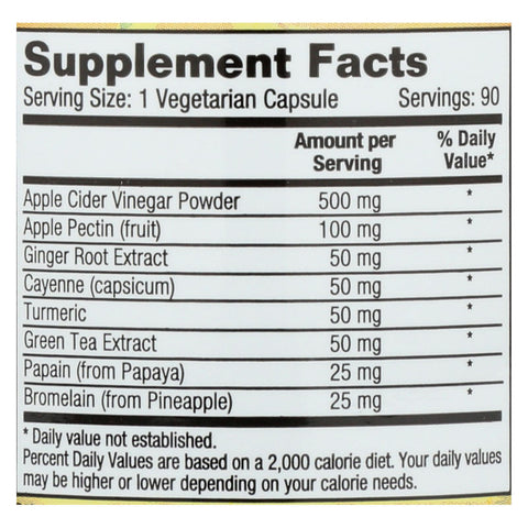 Image of Dynamic Health Apple Cider Vinegar Complete With Apple Pectin - 90 Vegetarian Capsules