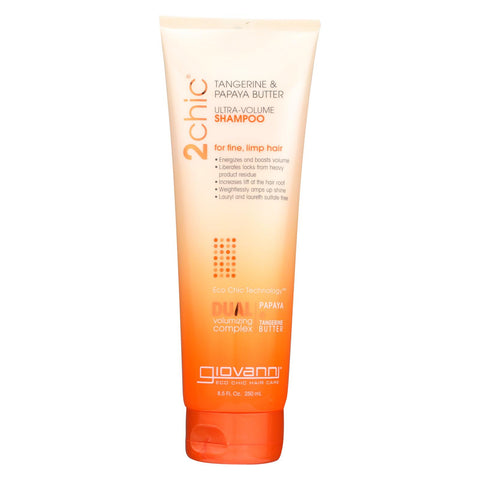 Image of Giovanni Hair Care Products 2chic Shampoo - Ultra-volume Tangerine And Papaya Butter - 8.5 Fl Oz