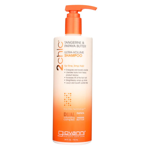 Image of Giovanni Hair Care Products 2chic Shampoo - Ultra-volume Tangerine And Papaya Butter - 24 Fl Oz
