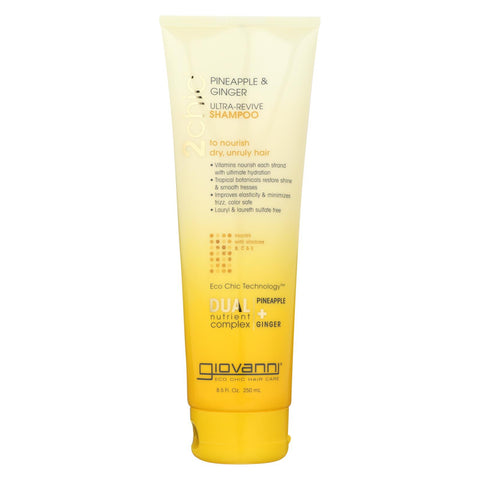 Image of Giovanni Hair Care Products Shampoo - Pineapple And Ginger - Case Of 1 - 8.5 Oz.