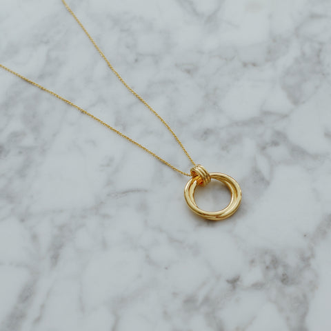 THE DOUBLE HOOP CHARM NECKLACE