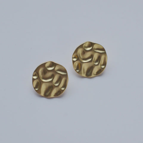 THE BEACON STATEMENT MATTE GOLD EARRINGS