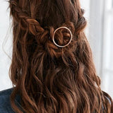 THE SASSY GOLDEN CIRCLE HAIR PIN