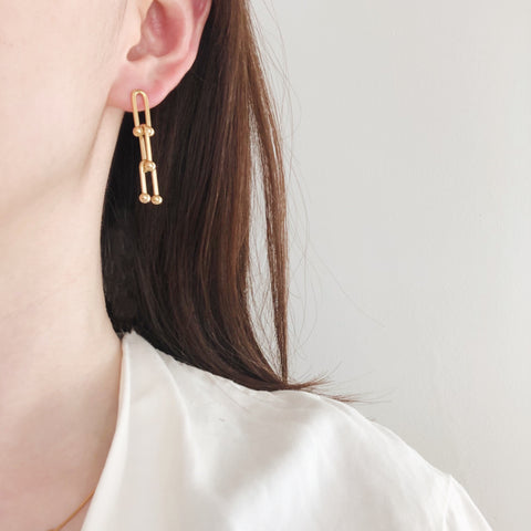 THE HARDWEAR PINBALL LINKED EARRINGS