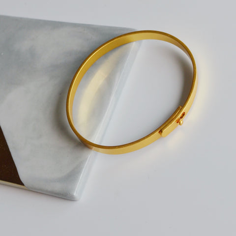 THE GLIDER BANGLE GOLD PLATED BRACELET