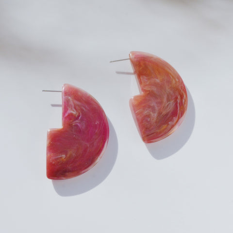 THE HALF MOON STATEMENT RESIN EARRINGS