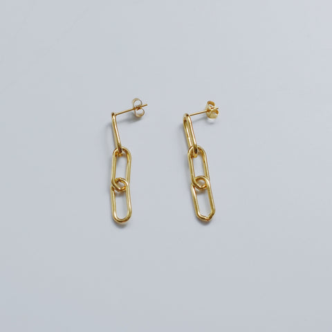 THE CHAIN LINKED DROP EARRINGS