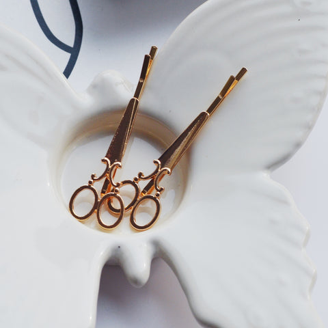 THE FRENCH CHIC GOLDEN SCISSORS HAIR PIN