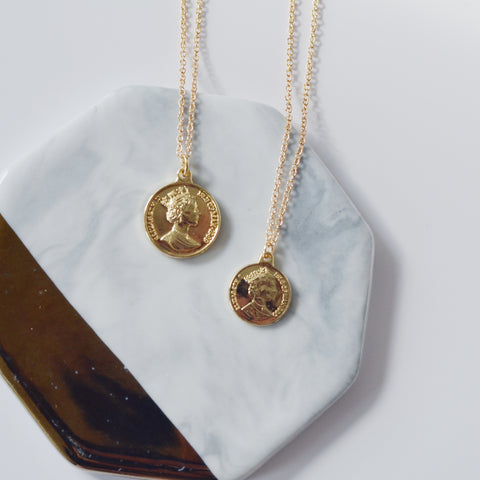 2 PIECES - THE INSTA STYLE COIN NECKLACES