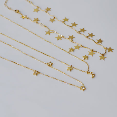 THE STAR & MOON CHOKER NECKLACE SET