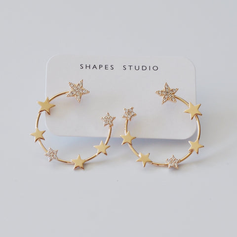 THE MULTI STARS HOOP EARRINGS