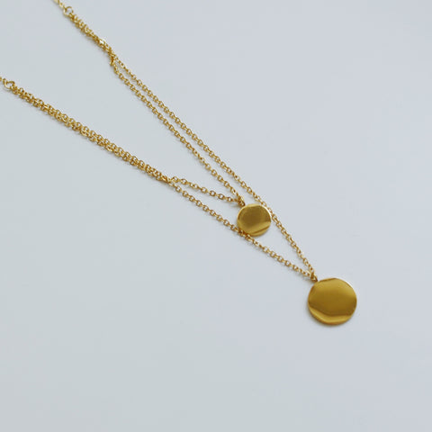 THE DOUBLE LAYERED CHARM NECKLACE