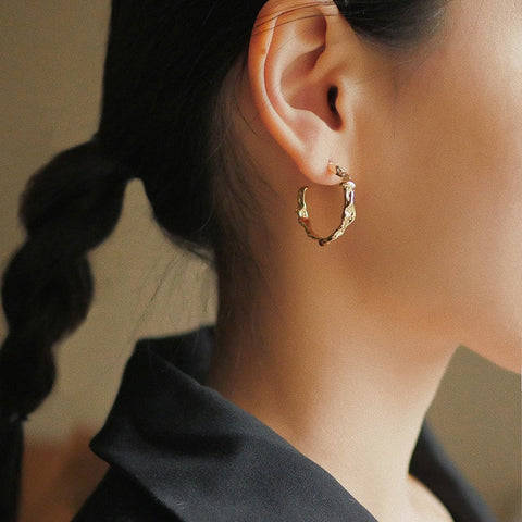 THE MELT LAVA GOLD PLATED HOOPS