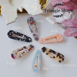 4 PACK - THE RETRO TORTOISE RESIN HAIR BARRETTES CLIPS