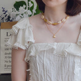 2 PIECES - THE COWRIE SEASHELL NECKLACE CHOKER SET