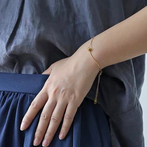 THE SOLID BALL BOLD CHAIN BRACELET