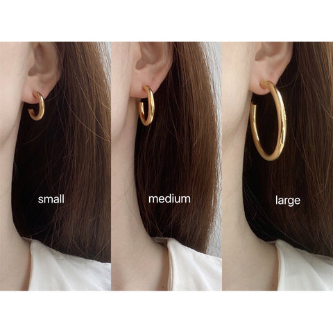 THE EVERYDAY GOLD HOOPS (3 Styles)