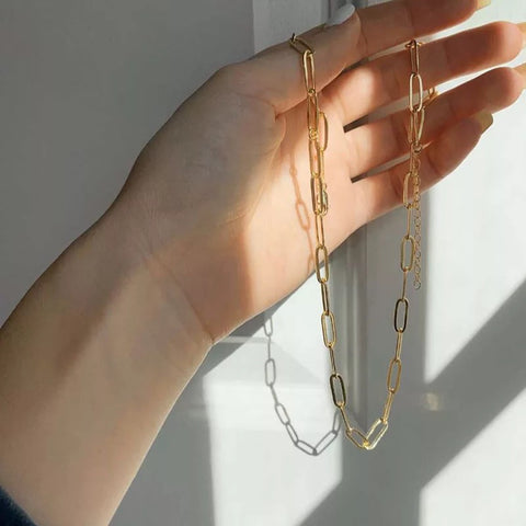 THE BOLD PAPERCLIP CHAIN NECKLACE / CHOKER