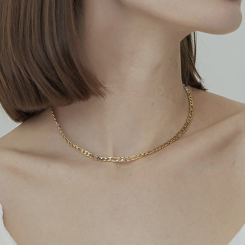 THE GOLD FIGARO CHAIN NECKLACE (2 Styles)