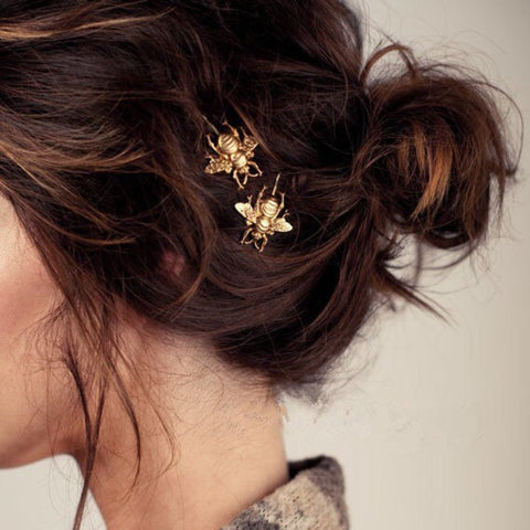 THE HANDMADE GOLD BEE BOBBY PIN / HAIR ACCESSORIES
