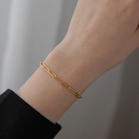 THE PAPERCLIP CHAIN LINKED BRACELET (2 Styles)