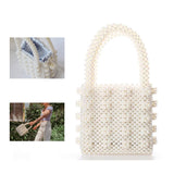 THE FAUX PEARL EMBELLISHED BOX BAG