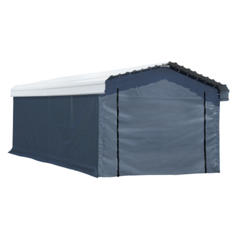 Image of Arrow 10181 12x20 Fabric Carport Enclosure Kit