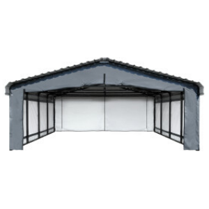 Image of Arrow Carport 20 x 20 ft. Enclosure Kit (Carport sold separately)