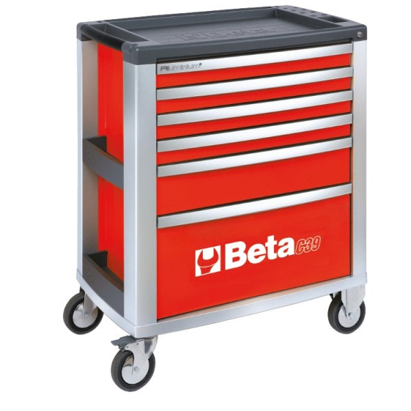 Beta Tools C39-6/R-MOBILE ROLLER CAB 6 DRAWERS RED