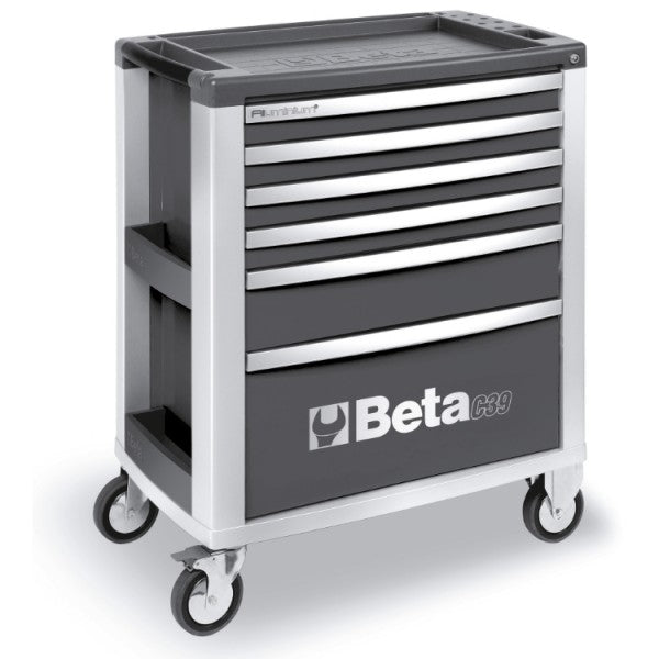 Beta Tools C39-6/G-MOBILE ROLLER CAB 6 DRAWERS GREY