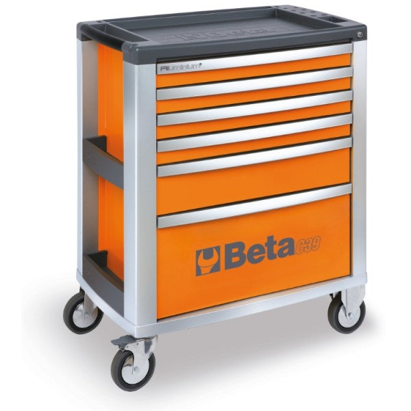 Beta tools C39-6/O-MOBILE ROLLER CAB 6 DRAW. ORANGE