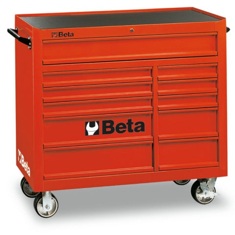 Beta Tools C38-R-MOBILE ROLLER CAB 11 DRAWERS RED