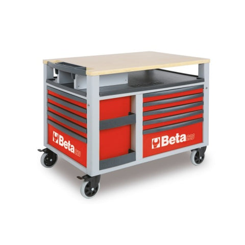 Beta Tools C28-R-SUPERTANK TROLLEY 10 DRAWERS RED
