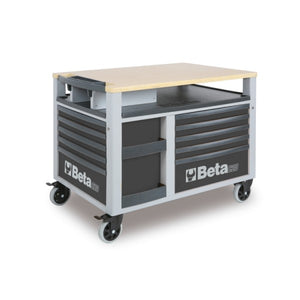 Beta Tools C28-G-SUPERTANK TROLLEY 10 DRAW. GREY