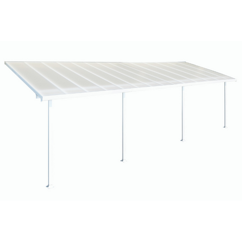 Image of Palram Feria 10' x 28' Patio Cover - White - HG9328