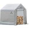 "ShelterLogic 90395 5 x 3'6"" x 5 Seasoning Shed; 5.5oz Clear PE Cover"