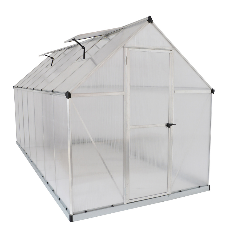 Palram Mythos 6' x 14' Greenhouse Nature Series - Silver - HG5014