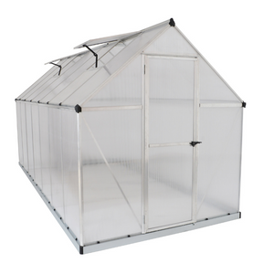 Palram HG5014 Mythos 6' x 14' Greenhouse Nature Series - Silver